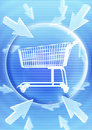Shopping Trolley With Graphic Effect Stock Image