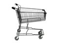 Shopping a trolley isolated against a white background Stock Image
