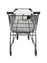 Shopping a trolley isolated against a white background Stock Photos