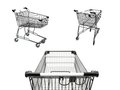 Shopping a trolley isolated against a white background Royalty Free Stock Photos