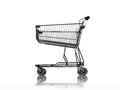 Shopping a trolley isolated against a white background Royalty Free Stock Photography