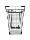 Shopping trolley a isolated against a white background Royalty Free Stock Image