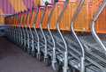 Shopping trolleys Royalty Free Stock Images