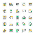 Shopping Vector Icons 1 Royalty Free Stock Photo