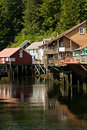 Shopping Village in Ketchikan, Alaska Royalty Free Stock Images