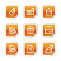 Shopping web icons Royalty Free Stock Images