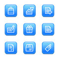 Shopping web icons Royalty Free Stock Photo