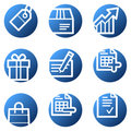 Shopping web icons Stock Images
