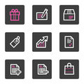 Shopping web icons Stock Photo