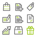 Shopping web icons Royalty Free Stock Photos