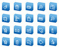 Shopping web icons, blue box series Stock Photos