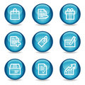 Shopping web icons, blue glossy sphere series Royalty Free Stock Photo