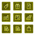 Shopping web icons, electronics card series Royalty Free Stock Photo