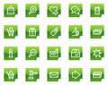 Shopping web icons, green sticker series Royalty Free Stock Photo