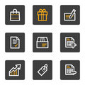 Shopping web icons, grey buttons series Royalty Free Stock Photo