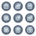 Shopping web icons, mineral circle buttons series Stock Photos