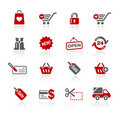 Shopping Web Icons // Redico Series Royalty Free Stock Photo