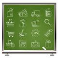 Shopping and website icons Stock Image
