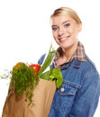 Shopping woman holding bags, Stock Photos