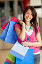 Shopping woman at the mall Stock Photo