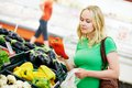 Shopping woman at store Royalty Free Stock Photo