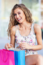 Shopping woman young with bags Stock Image