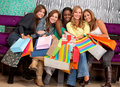 Shopping women Stock Photo