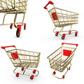 Shoppingcart set Stock Photography