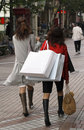 Shoppingkvinnor Arkivbild