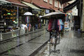 Shops istambul in a raining day Stock Photography