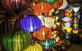 Shops selling chinese lanterns hoi vietnam Stock Image