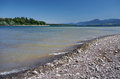 Shore of Liptovska Mara lake and Low Tatras