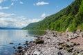 Shore of Scotland's Loch Ness Royalty Free Stock Photo