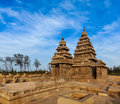 Shore temple world heritage site in mahabalipuram tamil nad famous nadu landmark nadu india Stock Images