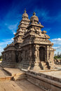 Shore temple world heritage site in mahabalipuram tamil nad famous nadu landmark nadu india Royalty Free Stock Images