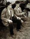 Shoreham by sea west sussex uk august laurel and hardy l lookalikes at airshow in on unidentified men Royalty Free Stock Photography