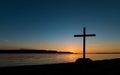 Shoreline Cross Sunset