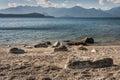 Shoreline of lake Manapouri Royalty Free Stock Photo