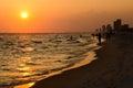 Shoreline of Panama City Beach Stock Image