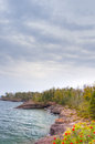 Shores of Lake Superior at Gooseberry State Park Royalty Free Stock Photo