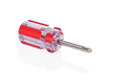 Short red screwdriver Royalty Free Stock Photo