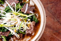 Short rib beef pho a delicous vietnamese dish with noodles Royalty Free Stock Images