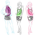Short Skirt Women Royalty Free Stock Photo