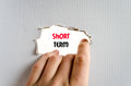Short term text concept Royalty Free Stock Photo