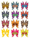 Short wing butterflies Stock Images