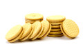 Shortbread biscuits on a white Royalty Free Stock Photo