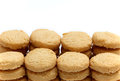 Shortbread cookies biscuits isolated on a white background Royalty Free Stock Images