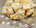 Shortbread cookies on christmas holiday closeup Stock Image