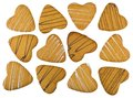 Shortbread cookies in form heart isolated on white background Royalty Free Stock Photo