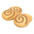 Shortbread Cookies Isolated on White Background Stock Photography